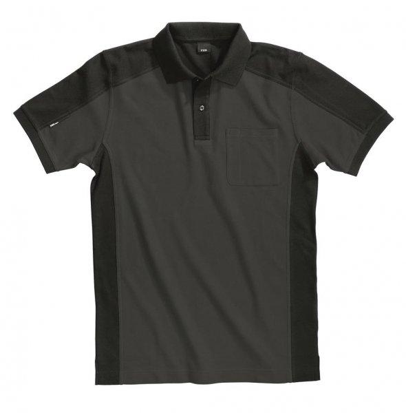 FHB Polo-Shirt Konrad, anthrazit-schwarz