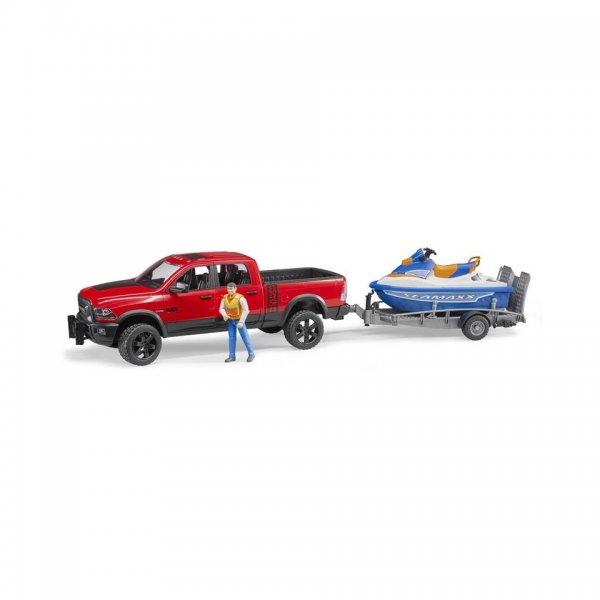 Bruder RAM 2500 Power Wagon mit Anhänger, Personal Water Craft & Fahrer