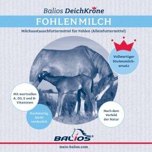 Balios Deichkrone Fohlenmilch, 3 kg