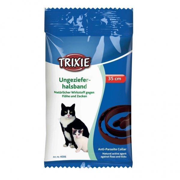 Trixie Natürliches Ungezieferband, Katze, 35 cm, braun