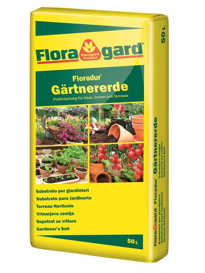 Floragard G Rtnererde 50l Blumenerde Erden