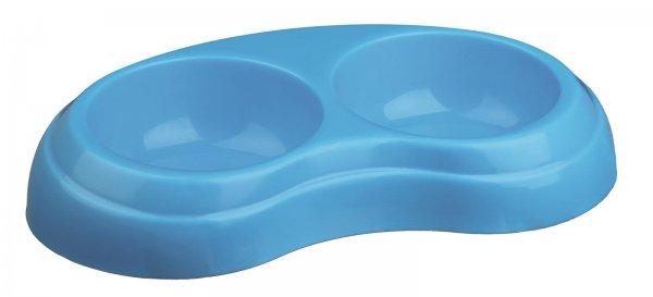 Trixie Doppelnapf, 2x 0,2 l, 10 cm, Kunststoff