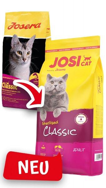 Josera JosiCat Sterilised Classic, 10 kg