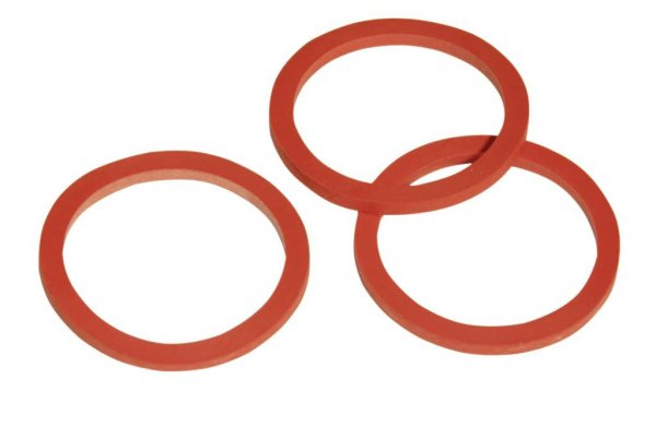 Kerbl Dichtung für Ventil, 3 mm, rot, 5er-Packung