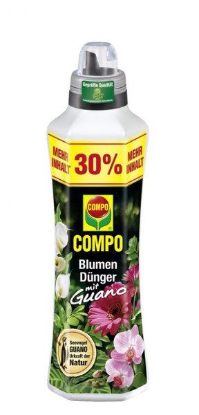 Compo Blumendünger mit Guano, 1,3 l