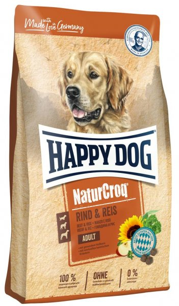 Happy Dog NaturCroq Rind & Reis, 15 kg